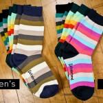 BetaBrand Men's Striped Socks