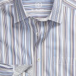 Bugatchi Uomo Classic Fit Woven Sport Shirt Striped