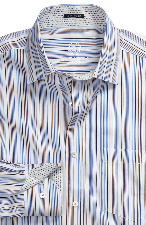 Bugatchi Uomo Classic Fit Woven Sport Shirt Stripped