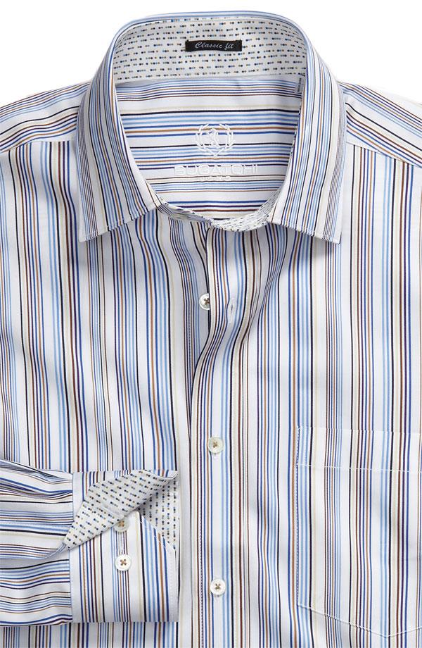 Bugatchi Uomo Classic Fit Woven Sport Shirt Stripped