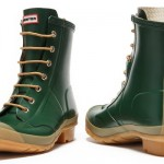 Hunter Bormio Green Combat Ankle Boot