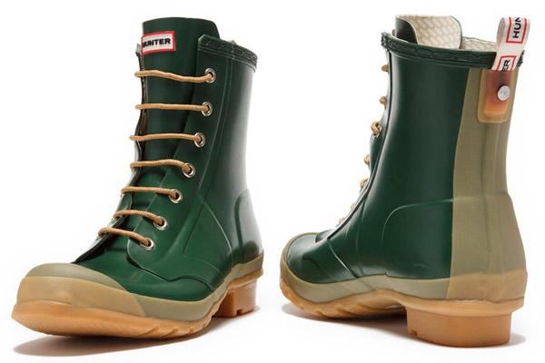 Mens Green Boots Hunter Bormio Combat