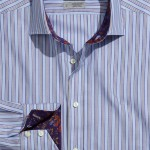 Thomas Dean Multi Bar Stripe Sport Shirt
