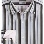 thomas dean multicolor striped sportshirt