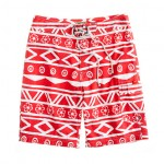 9″ Jcrew Board Shorts Oahu Print Mens Swimwear