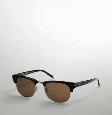 TORTOISESHELL CLUBMASTER SUNGLASSES kenneth cole