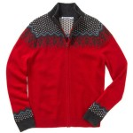 Bonobos Norsland Lambswool Scandinavian Pattern Full Zip Sweater