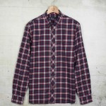 Fred Perry Men's Navy Plaid Twill Shirt