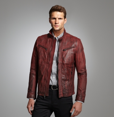 kenneth cole leather moto jacket