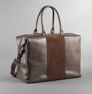 kenneth cole roma leather suede duffle bag