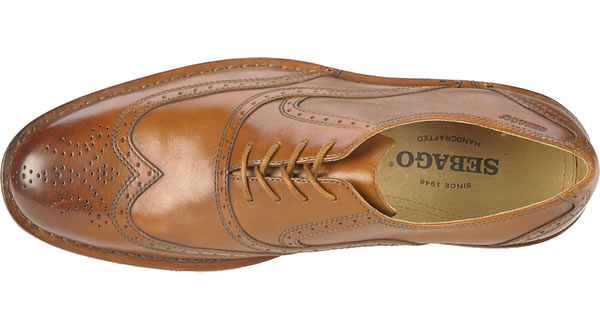 sebago brattle mens dress shoe british tan