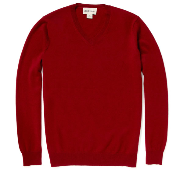 dartmoor cashmere v-neck sweater