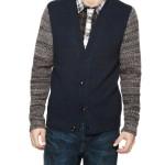 Edun Contrast Sleeve Cardigan
