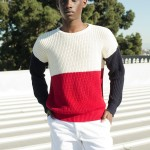 American Apparel Colorblock Fisherman's Sweater