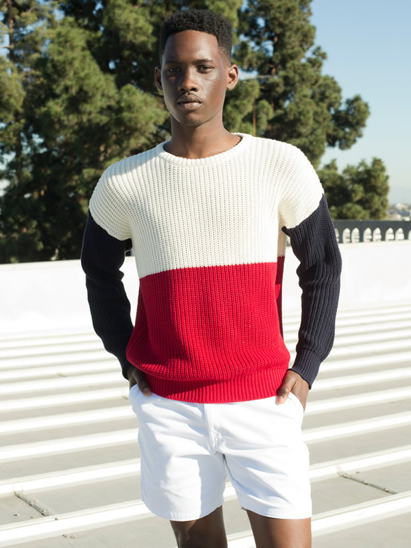 Men's Colorblock Fisherman's Sweater