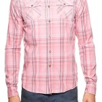Scotch & Soda Pink Plaid Men's Sport Shirt