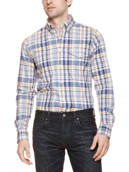 ben sherman plaid clerkenwell sport shirt