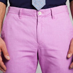 Purple Cotton Oxford Pants that POP!