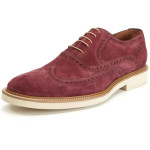 Purple Suede Wingtips