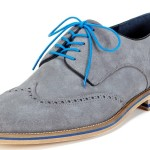 Grey Crosby Square Wingtips