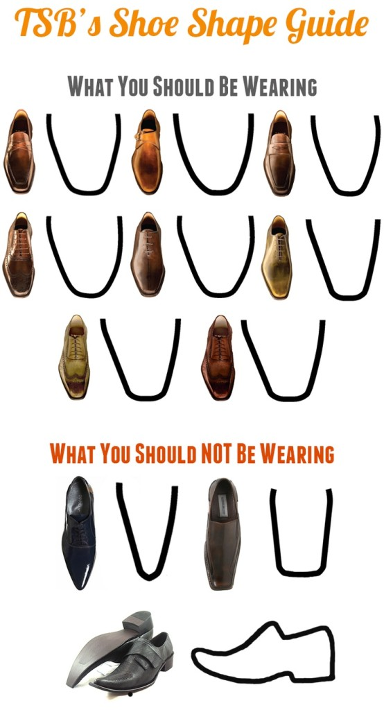 ditch the square toes. mens shoes you should be wearing