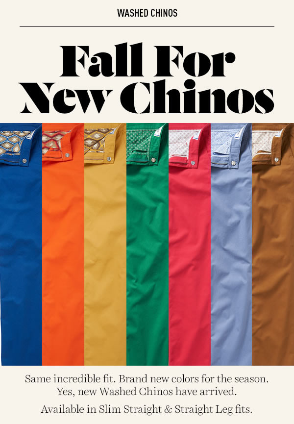 new bonobos washed chinos colors