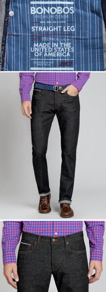 Bonobos Premium Denim - Black Selvage Resin Tumble Wash
