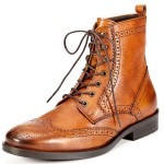 a.testoni BASIC Brogue Ankle Boot