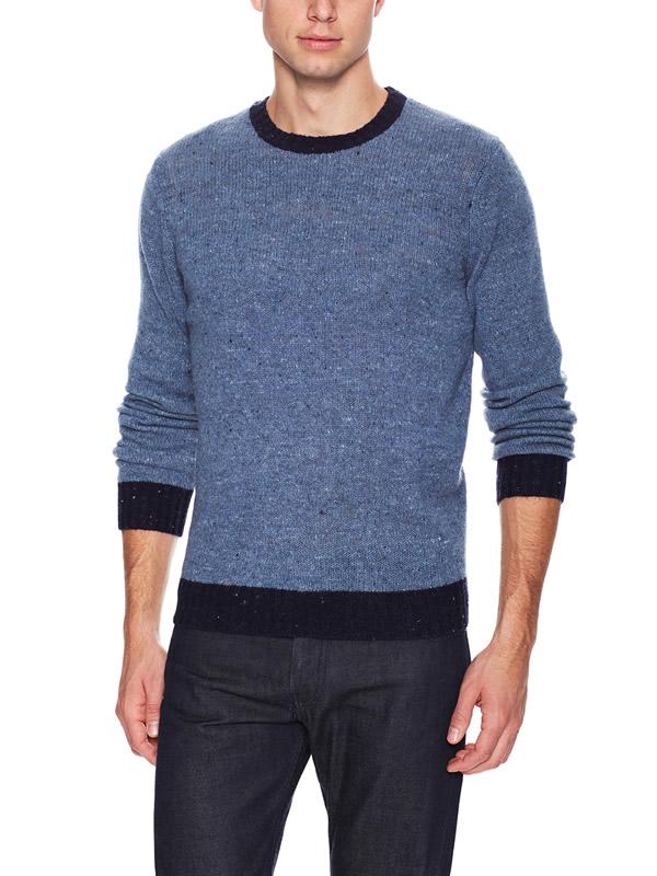 denim navy crew neck sweater c/89