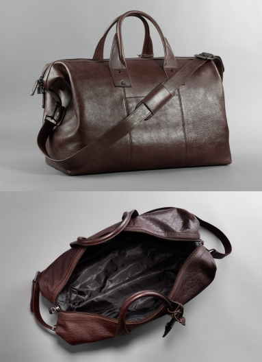 kenneth cole roma leather duffle bag weekend
