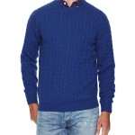 Dartmoor Cashmere Cable Crewneck Sweater