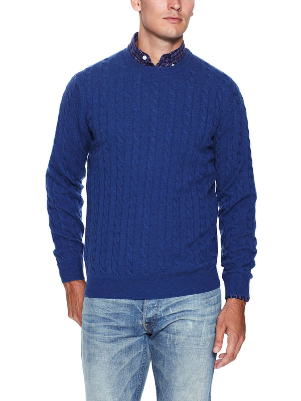 Dartmoor Cashmere Cable Crewneck Sweater Mensfash