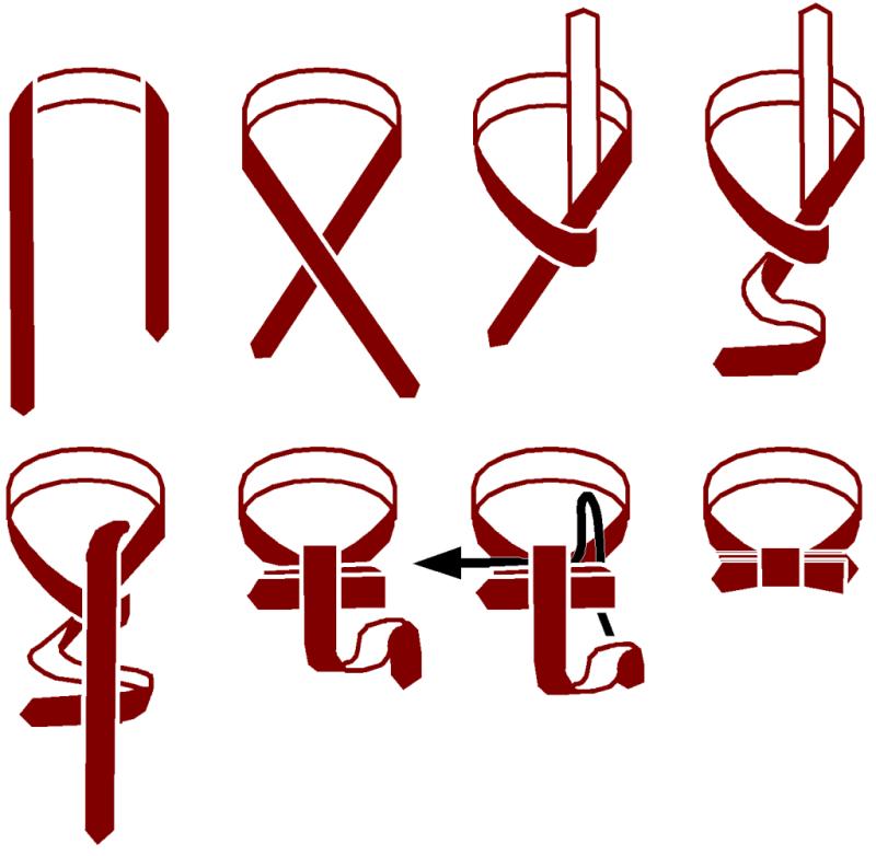 Завязать галстук из ленты своими руками 37
