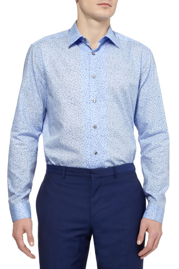 PAUL SMITH LONDON SQUARE AND HEART-PRINT COTTON SHIRT