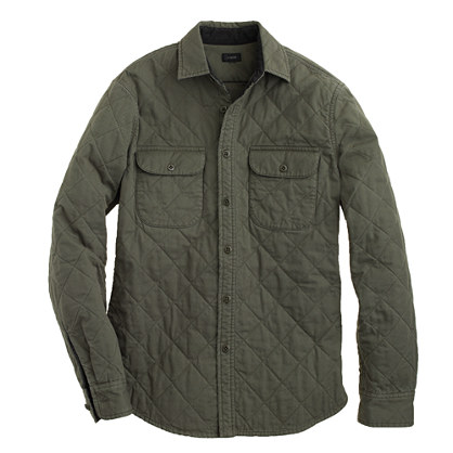 J. Crew QUILTED SHIRT-JACKET