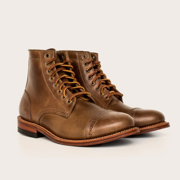 Oak Street Bootmakers Natural Cap-Toe Trench Boot