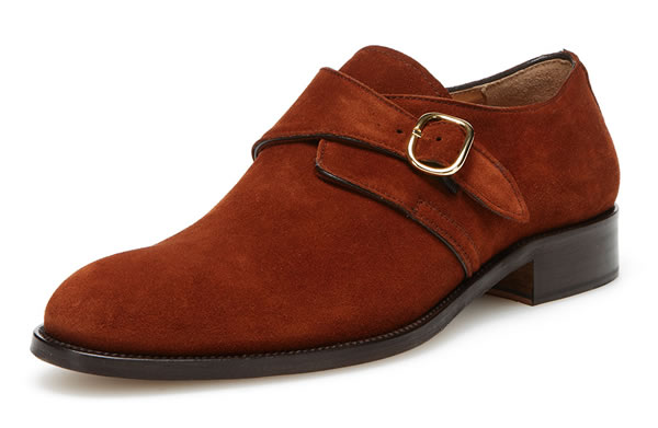 wall + water plain toe monkstrap