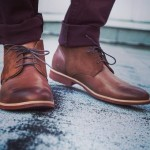 Brown Chukka Boots and Burgundy Jeans