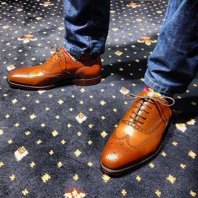 Brown Wingtips Paisley Socks And Premium Denim Mensfash
