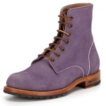 DSquared2 Purple Suede Lace Up  Boots