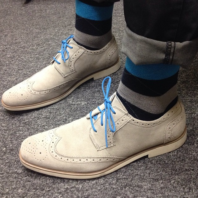 grey wingtip brogues men's shoes