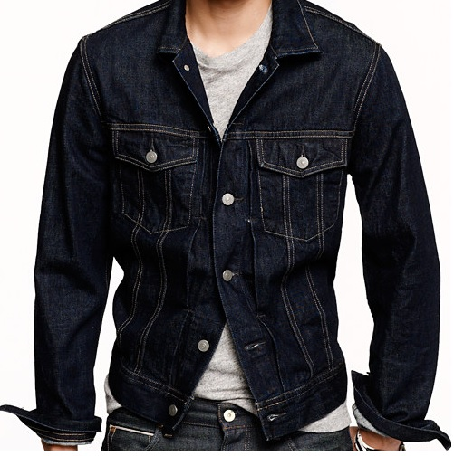 j crew DENIM JACKET IN DARK RINSE WASH