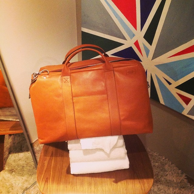 jack spade leather weekend bag