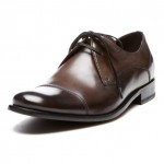 John Varvatos Leather Dress Cap Toe Shoe