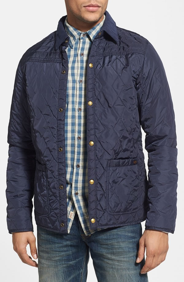 Scotch & Soda quilted men's nylon jacket