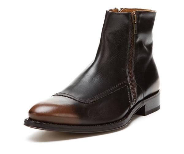 doucals double zipper ankle boots