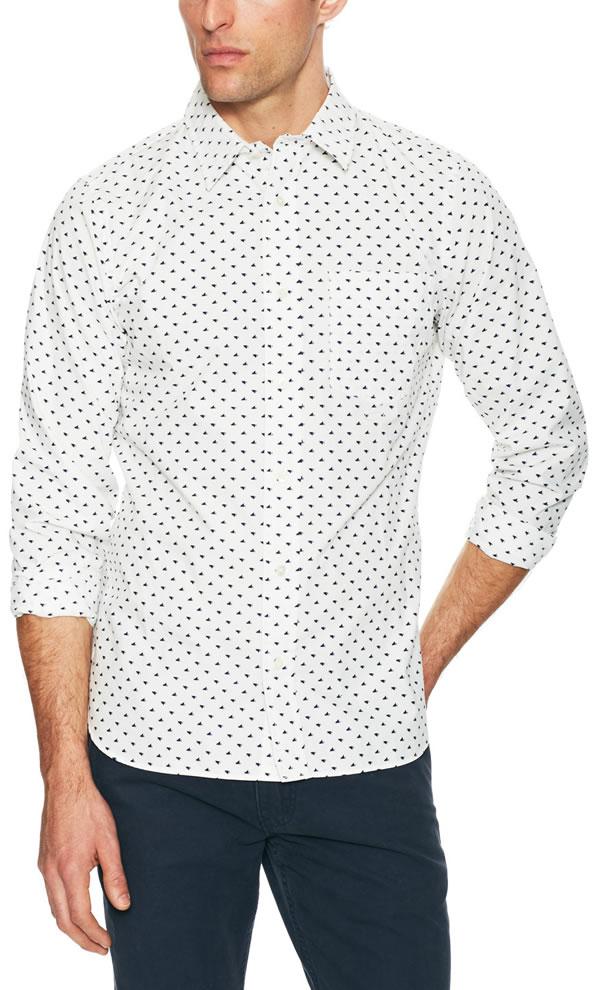jack spade Tangram Bird Print Sport Shirt