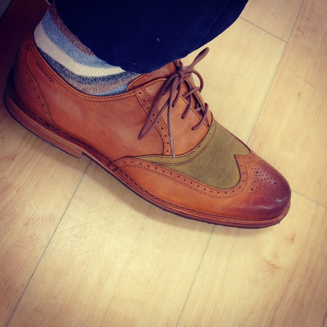 sebago wingtips and cool socks