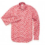 Bonobos Washed Poplin Red Floral Shirt