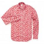 Bonobos Washed Poplin Red Floral Shirt